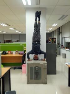 Just a handstand