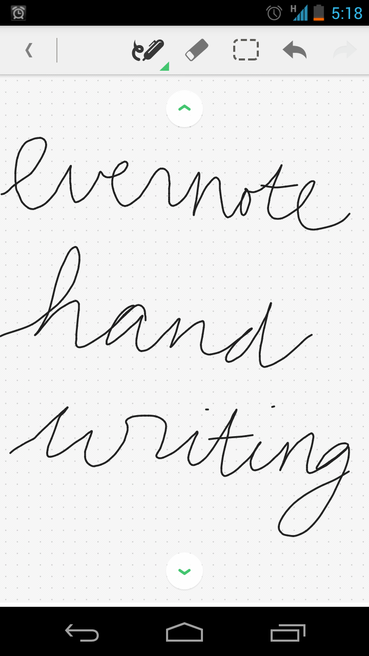 Evernote for android now with handwriting feature akhlis