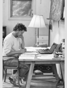 Author cum journalist Allen Salkin at his writing desk. (Image credit: Wikimedia)