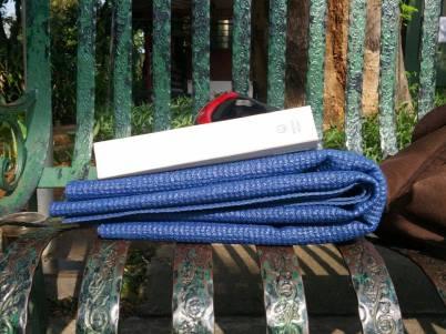 Ketebalan dari samping mat ini cukup tipis sehingga bisa dilipat dan dimasukkan tas. (dok pribadi)