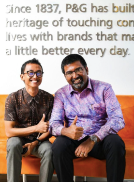 Me and Madusudan Gopalan, P&G Indonesia's CEO